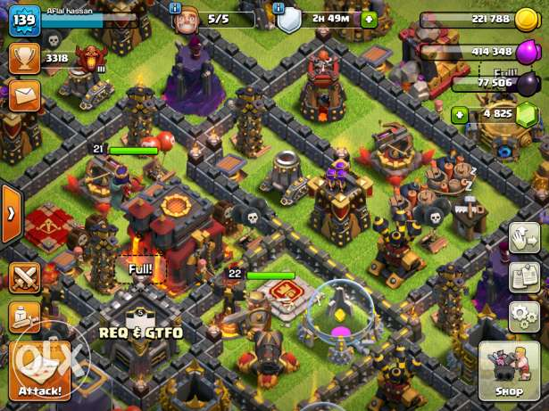 Clash of Clans for best offer!!!can accept paypal