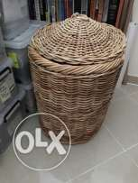 Two Wicker baskets - VGC