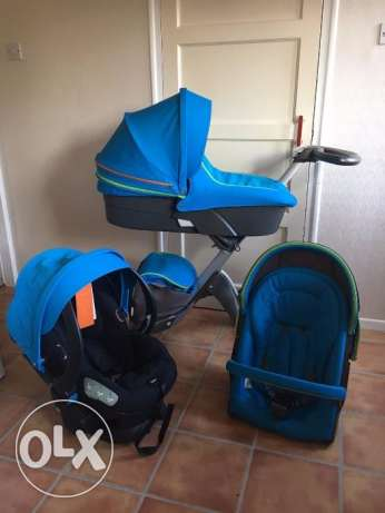 Stokke Xplory V4 Urban Blue Complete Travel System for sale
