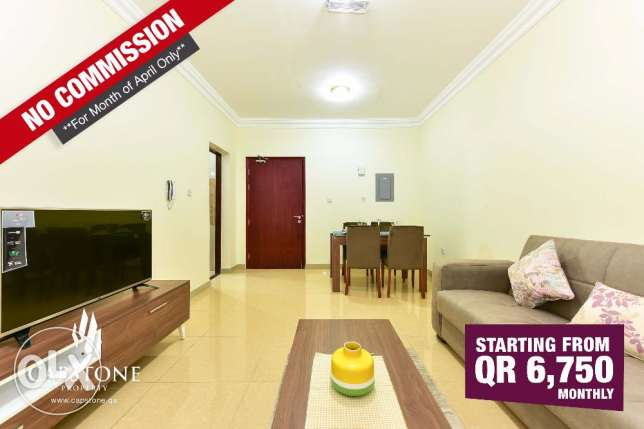 No Commission, Brand New, Fully-Furnished 2BR Apt. in Old Airport