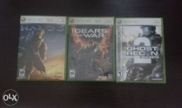 XBox 360 & XBox live new games ( Halo 3, Ghost Regon 2, Gears of War )