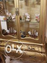 Wooden decoration partition golden colour
