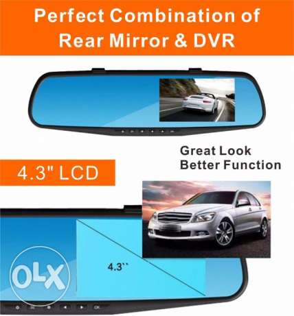 Brand New Full HD Dashcam + car rearview camera monitor DVR