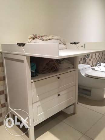 Changing table/chest of drawers, white - Brand new