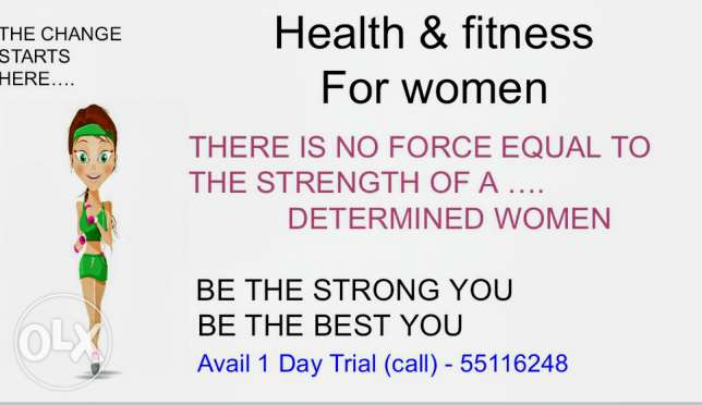 Personal training for women available