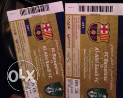 2 vip tickets barcelona vs alahli saudia