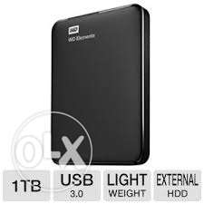 Western Digital 1Tb Elements USB 3.0 HDD