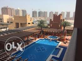 two bedrooms aparts semi furnished.The Pearl