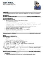 Application for the Post of Accountant (4 Year UAE Experience)