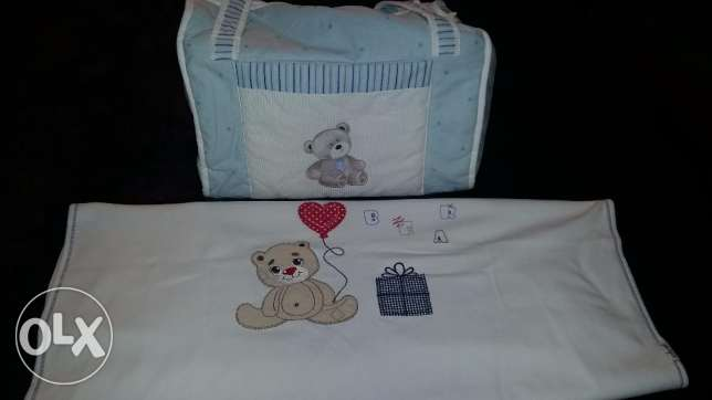 New born baby clothes like new+baby bag+blanket+food and bottle warmer