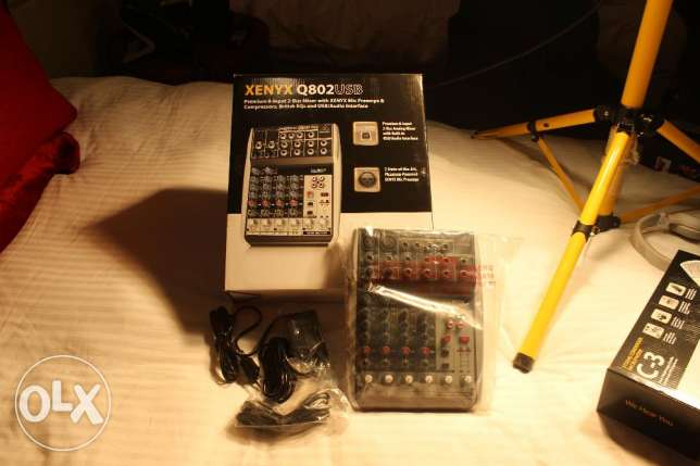 8 Channel Mixer and SoundCard. Brand new! On the Box! Bargain Value!