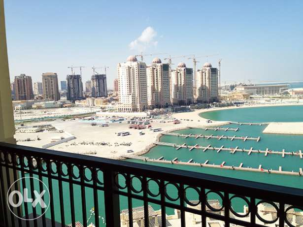 Semi-furnished 3-Bedroom Apartment in Viva Bahriya الؤلؤة -قطر -  2