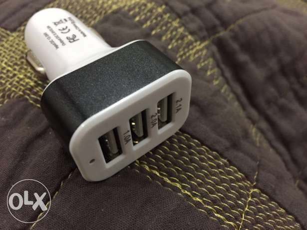 Car Charger with 3 USB Ports