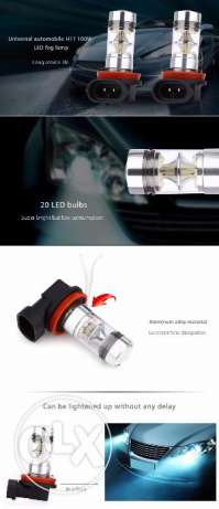Pair of Universal Car H 11 100W 6000K LED Bulbs