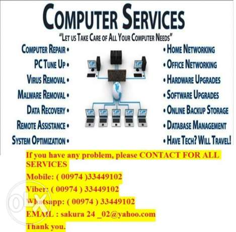 Computer Repair in home or office and Virus Removal in Doha –Qatar.