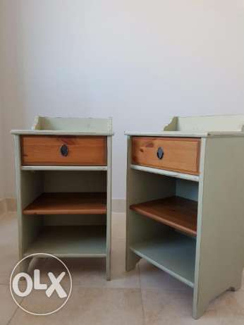 Pair of Shabby Chic Wooden Bedside Tables