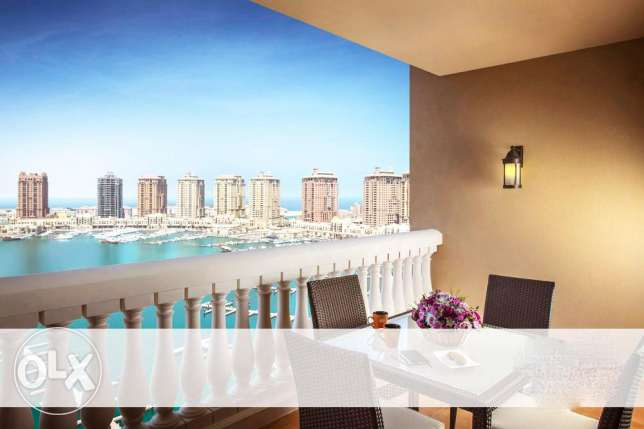 Fully-Furnished 3-BHK Flat in [The Pearl] الؤلؤة -قطر -  7