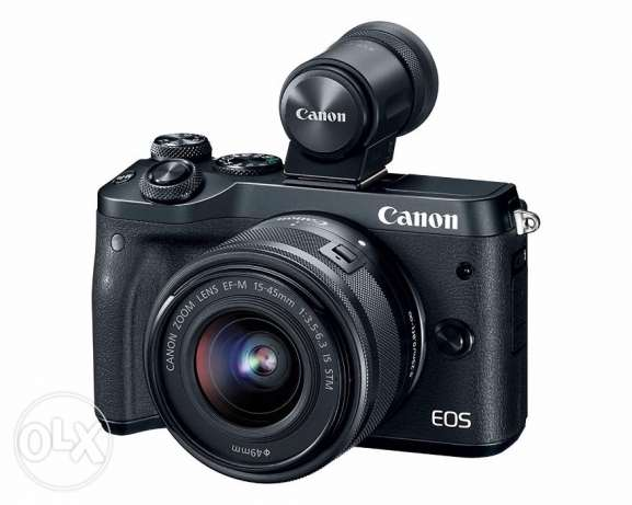 New Canon EOS M6+18-150mm f/3.5-6.3 IS STM lens+Electronic Viewfinder