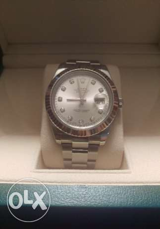 Authentic brand new Rolex Datejust gold and diamonds