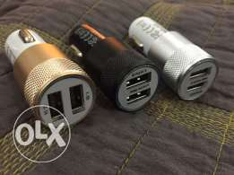 Dual 2 Port USB Car Charger for iPhone & Android Devices- Aluminum