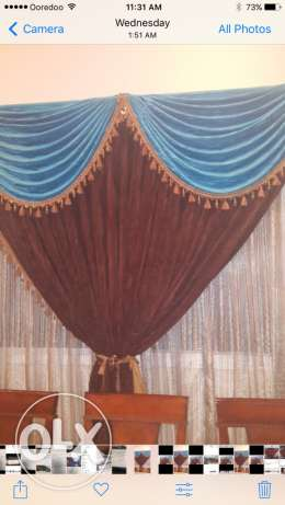 curtains with stands