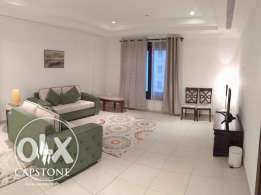 FREE ONE MONTH FREE: FF 1BR Apt in Porto Arabia