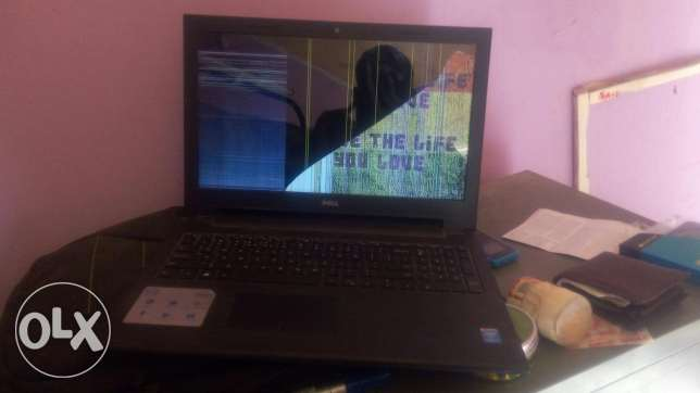 laptop with display crack