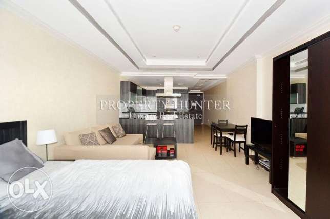 Studio Apartment in Luxury Development الؤلؤة -قطر -  2