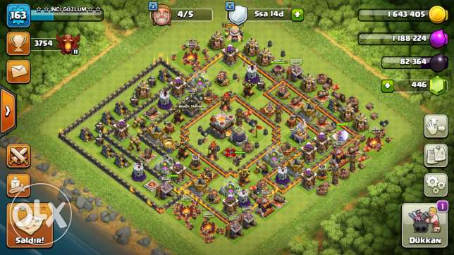 Clash of clans 163 lvl.