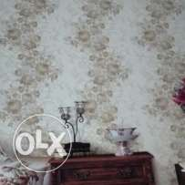 Wallpaper fixing work