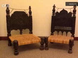 Set of Indian stools good shape for sale