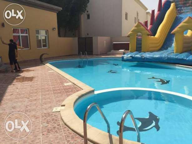 SF 5-BR Villa in Ain Khaled,Pool,Gym,Tennis,Basketball+Free month
