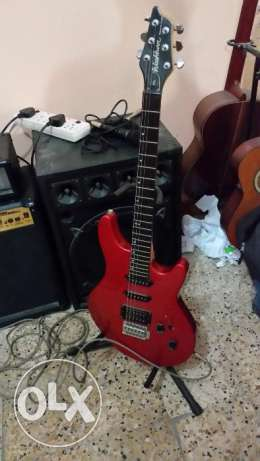 Washburn electric guitar and Marshall 100W amp