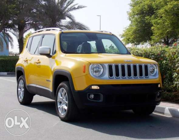 brand new 2016 jeep renegade limited 4x4 gcc full option Yellow Color