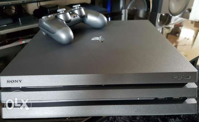 ps4 pro with 2 controllers