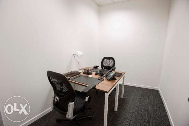 Fully serviced office. Price starting 4,400 QAR