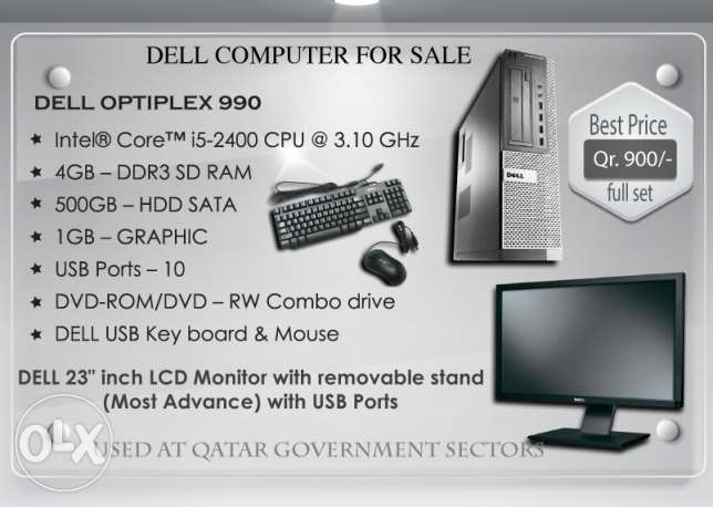 Dell Computer for sale - FULL SET Qr.850 / Intel® Core™ i5