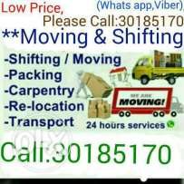 Moving,Shifting,Carpentry,Packing& Pick Up Service