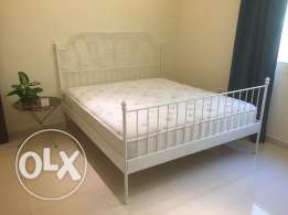 Ikea Bed Frame & Beautyrest Mattress for sale.
