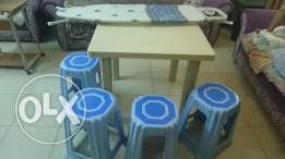 Plastic Table with stools for sale