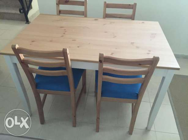 Dinning table and chairs IKEA LERHAMN