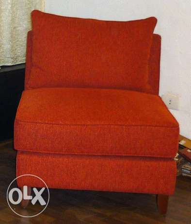 Sofa Single Armless 2 Pieces