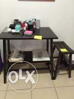 Small table with bench