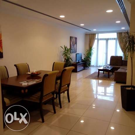 Monthly or Yearly FF 2 or 3 BR Flats in Bin Mahmoud-Gym-Pool-Spa-Sauna
