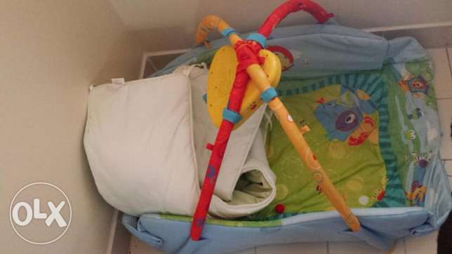 FREE Musical baby gym and cot bumper - good cond. no rip or stain المسيلة -  3