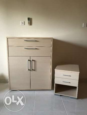 Cabinet and Bedside Table