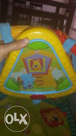 FREE Musical baby gym and cot bumper - good cond. no rip or stain المسيلة -  2