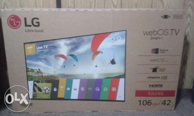 "unopened LG 42"" SMART+ 3D TV"