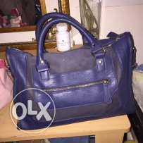 used blue color bag in very good condition for sale for only 60QR