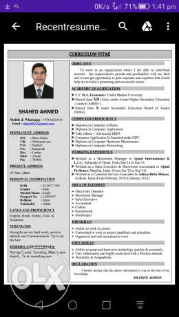 I am looking for Sales job